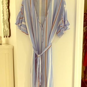 Lush maxi dress with tie